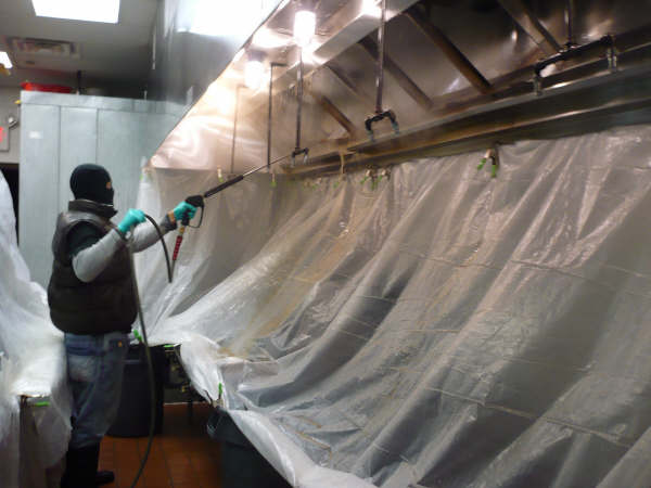 Restaurant Kitchen Hood Cleaning professional steam and cleaning